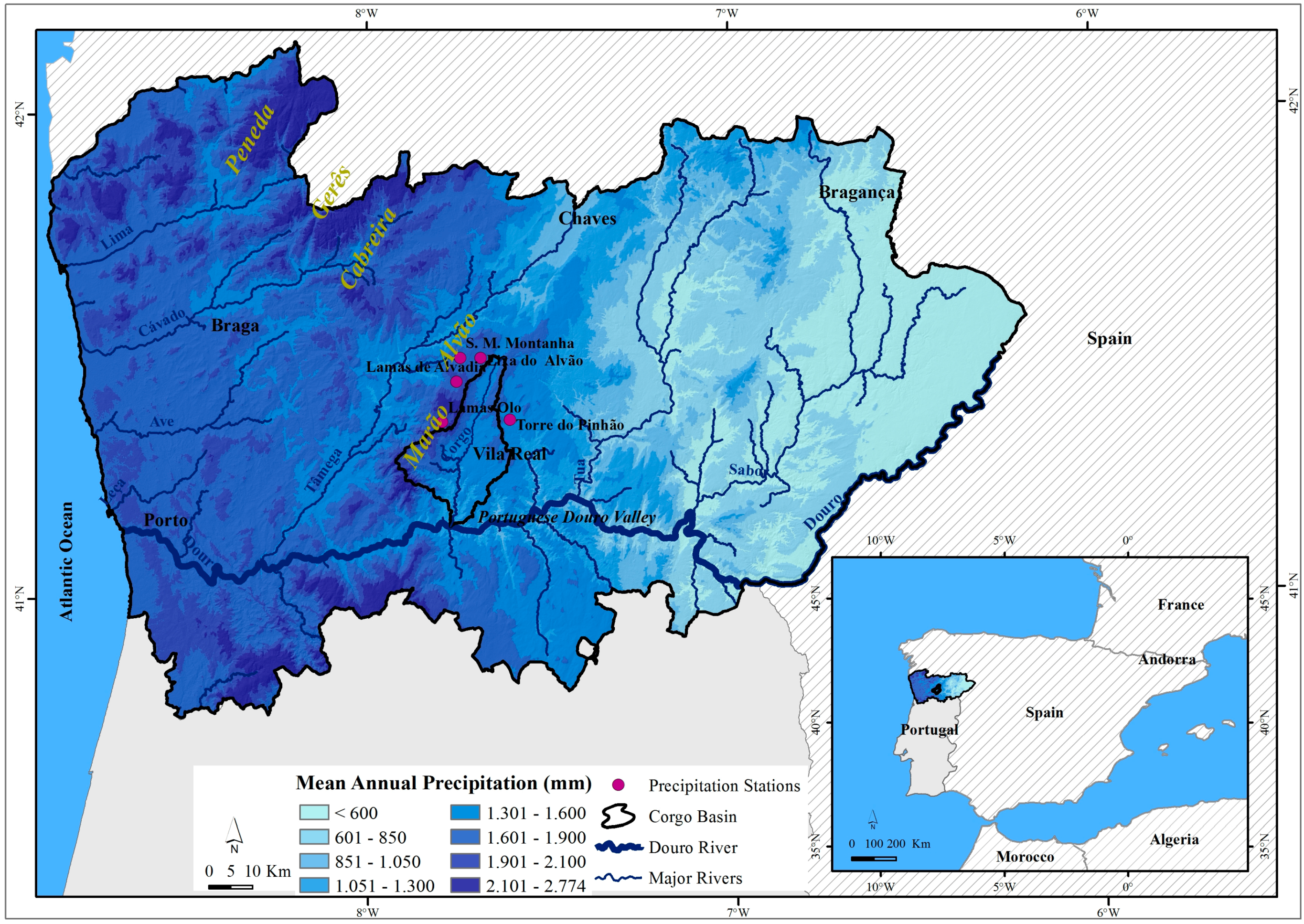 Water Free FullText Precipitation Thresholds For Triggering - Portugal rainfall map