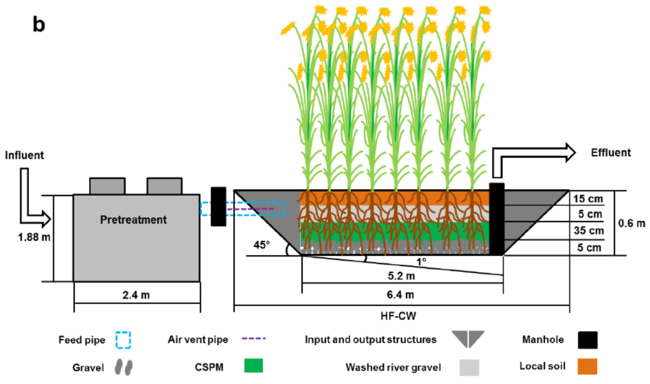 Water   Free FullText   Domestic Wastewater Depuration Using a Horizontal Subsurface Flow
