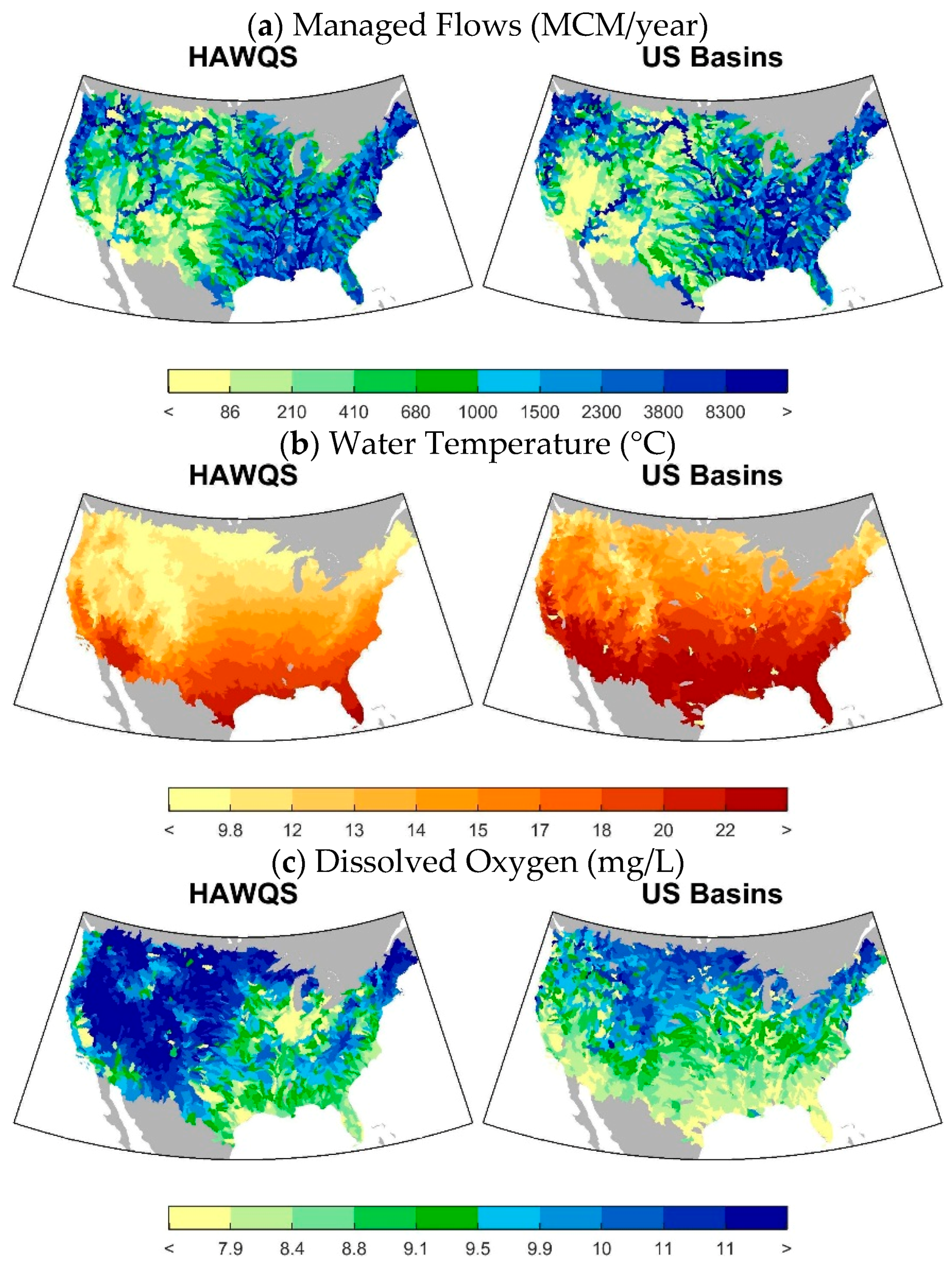 Wetlands Information Environmental Monitoring Assessment US EPA - Us water temperature map