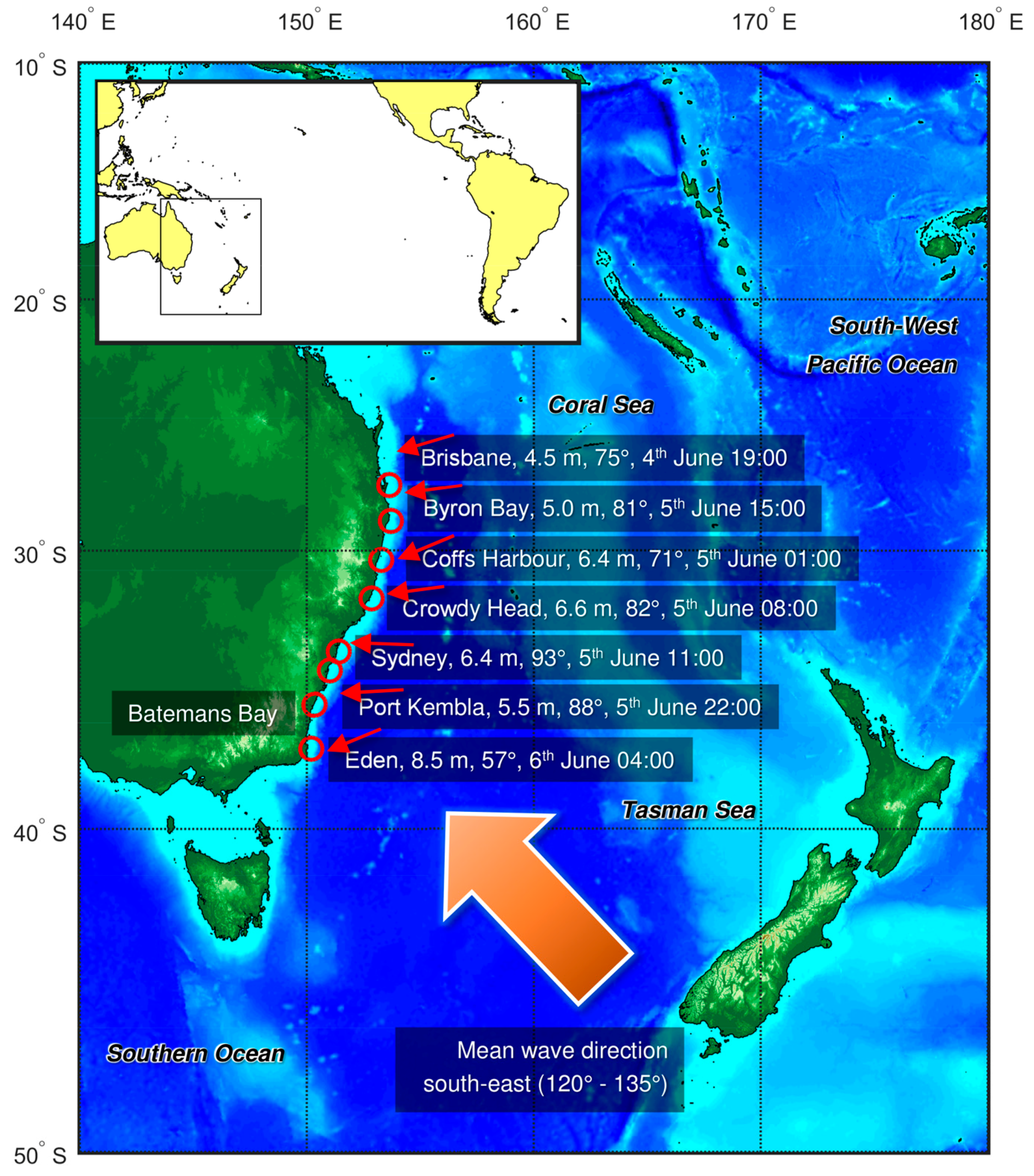 Map East Coast Of Australia.Water Free Full Text The June 2016 Australian East Coast Low