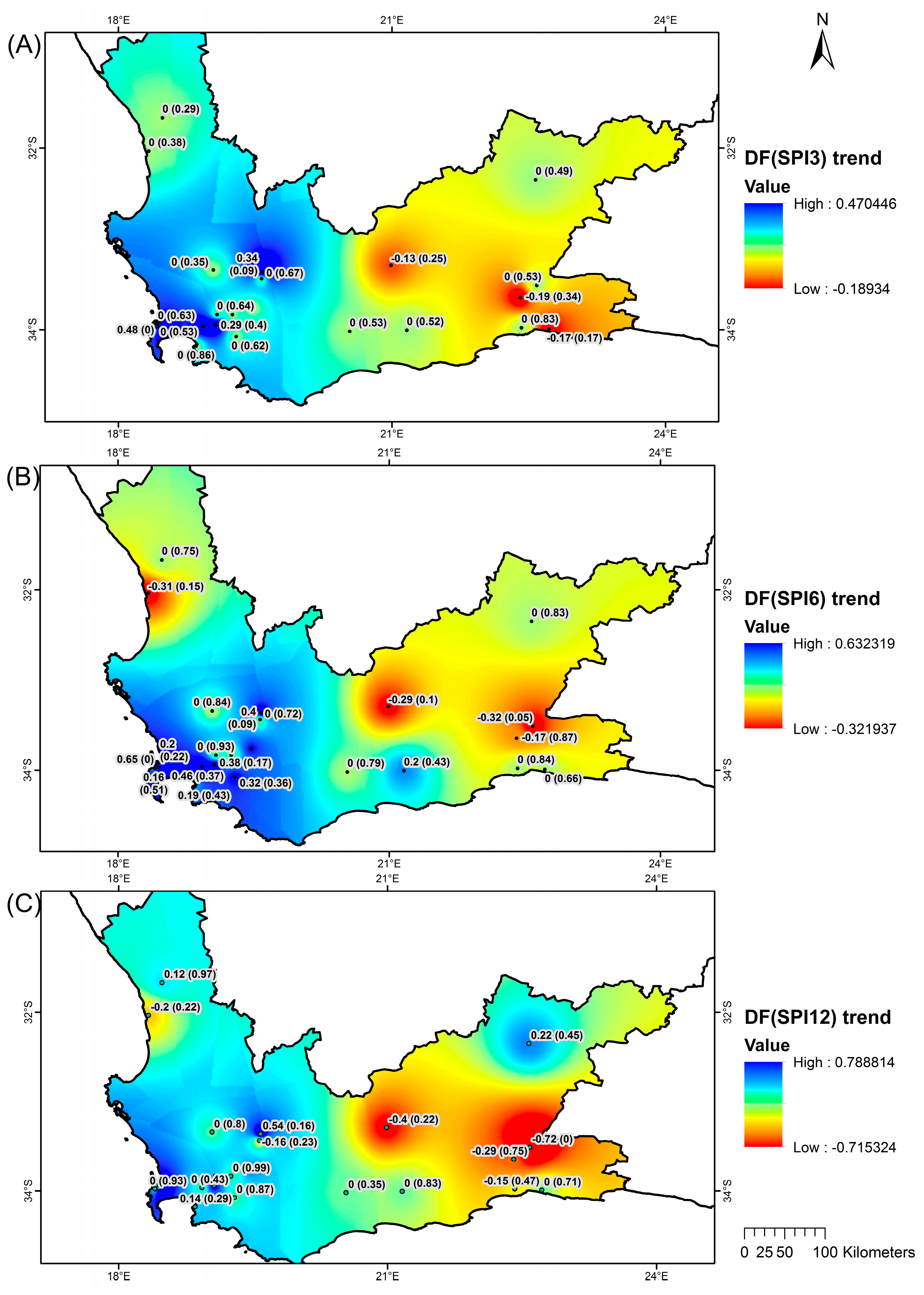 Map Of South Africa 9 Provinces.Water Free Full Text Drought Characteristics Over The Western