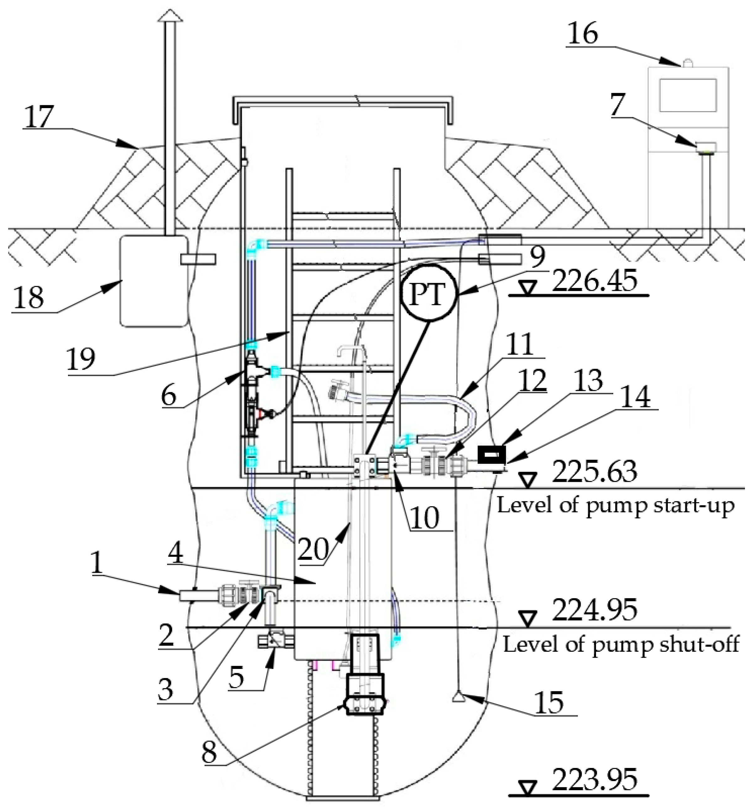 Water Free Full Text A Case Study Of Small Diameter Gravity Pressure Tank Schematic No