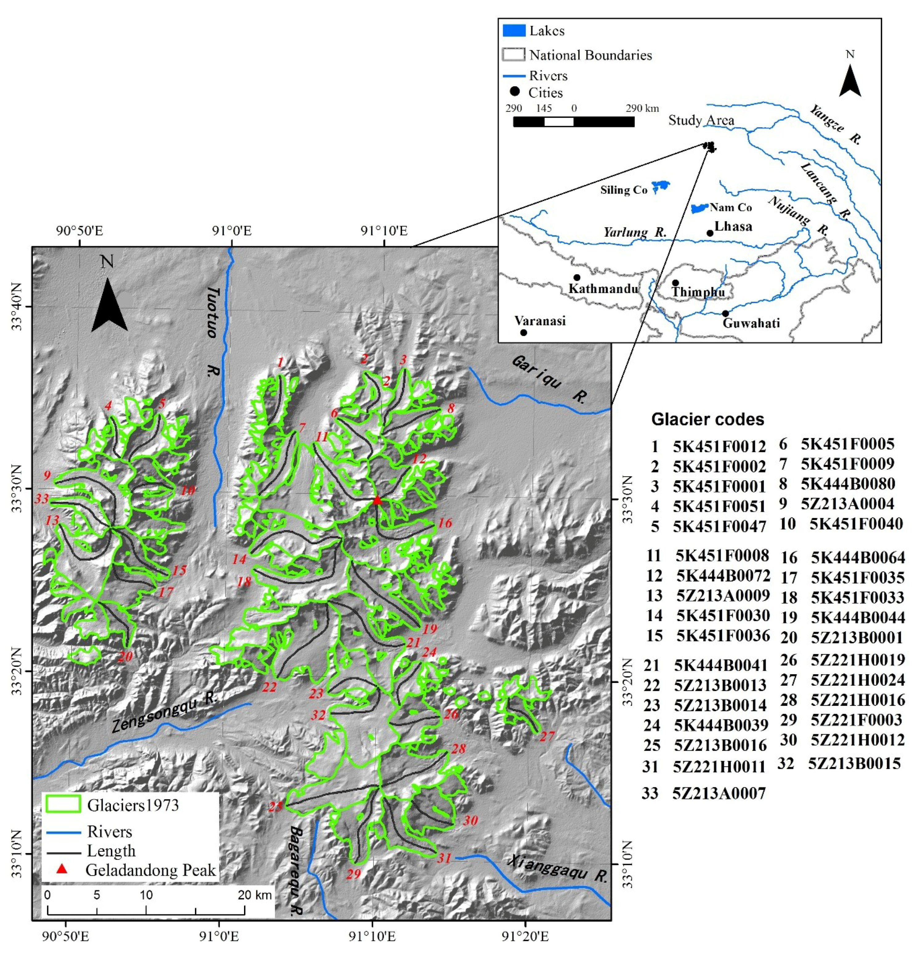 Water | Free Full-Text | Three-Dimensional Glacier Changes