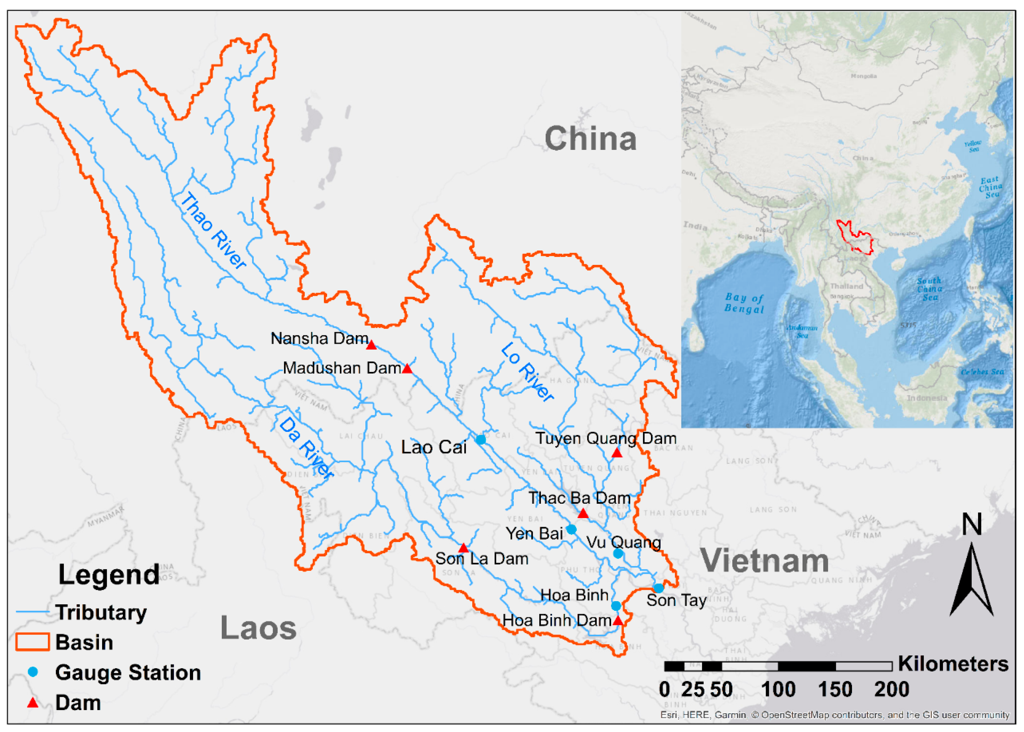 Water Free Full Text A Modeling Approach To Diagnose The Impacts Of Global Changes On Discharge And Suspended Sediment Concentration Within The Red River Basin
