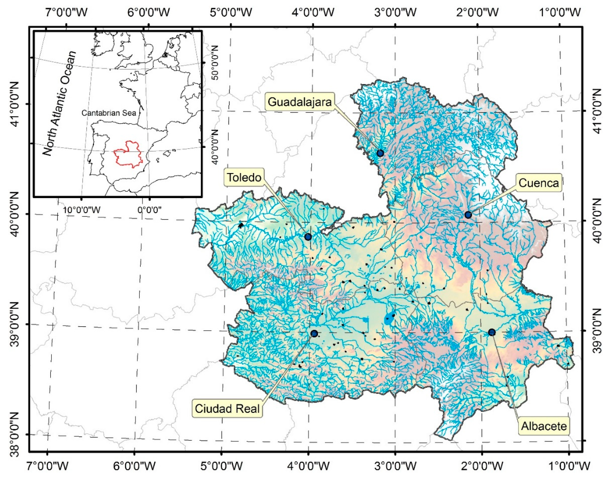 Map Of Central Spain.Water Free Full Text Can The Quality Of The Potential Flood Risk