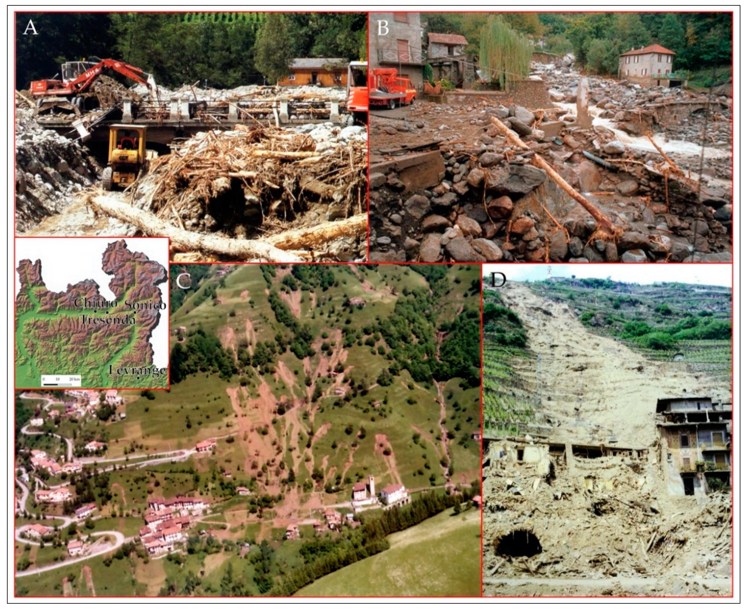 Water Free Full Text Eighty Years Of Data Collected For The Determination Of Rainfall Threshold Triggering Shallow Landslides And Mud Debris Flows In The Alps Html
